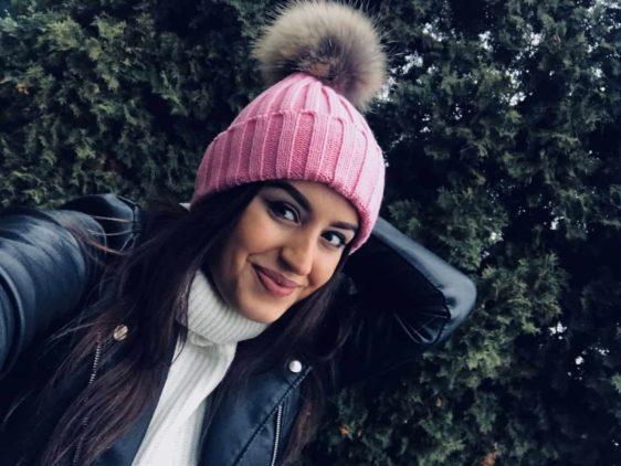 damska zimna ciapka ruzova