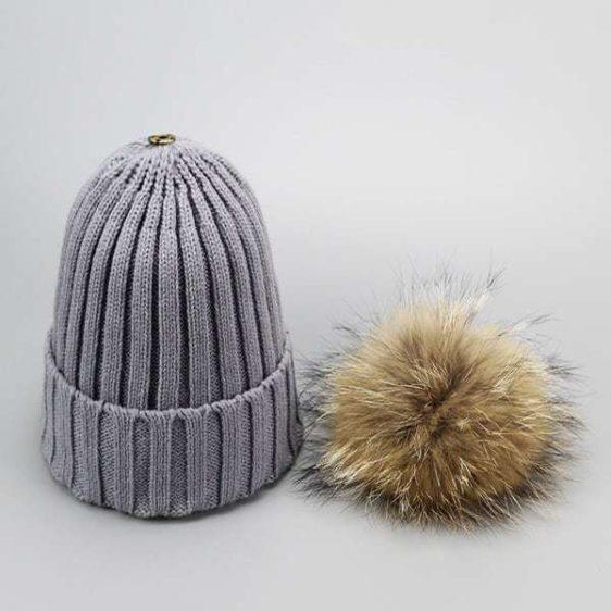damska zimna ciapka siva