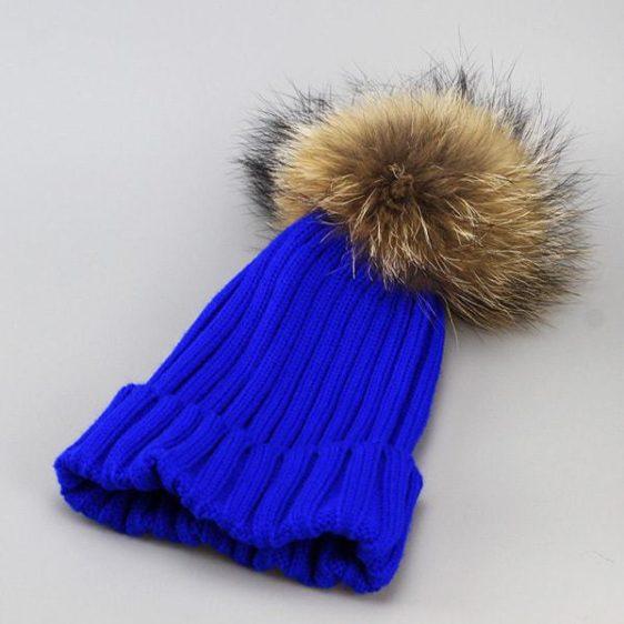 damska zimna ciapka modra