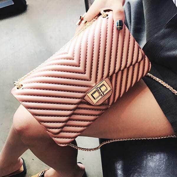 vecerna elegantna damska kabelka cez plece ruzova