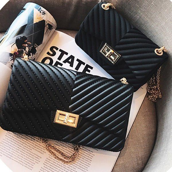 luxusna vecerna damska kabelka cierna