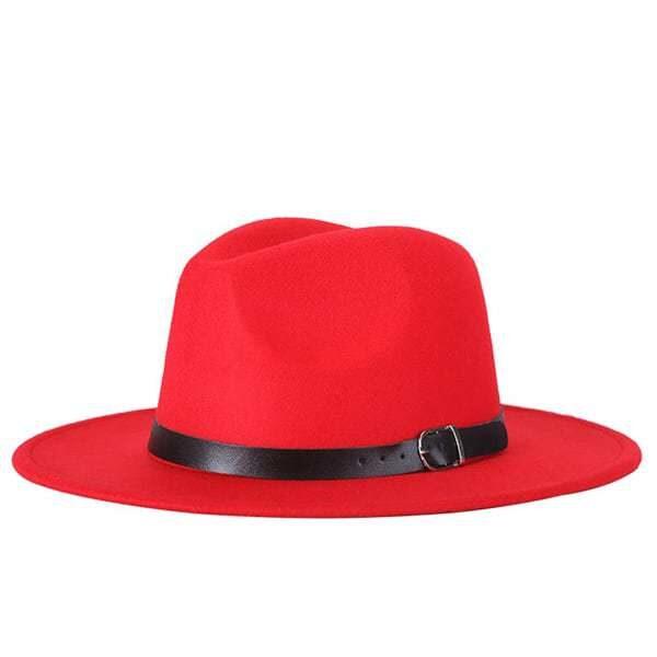 dámsky klobuk na zimu cerveny