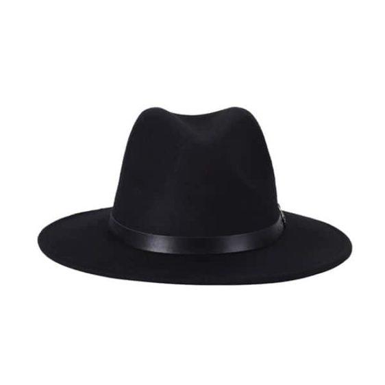 dámsky klobuk na zimu cierny