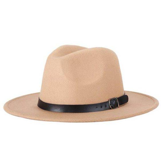 dámsky klobuk na zimu khaki