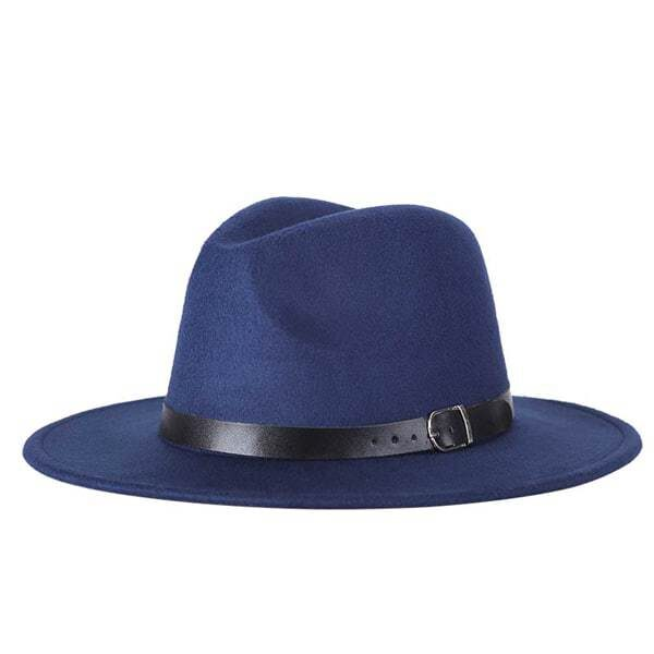 dámsky klobuk na zimu modrý