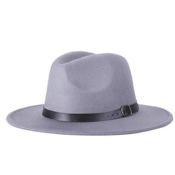 dámsky klobuk na zimu sivy