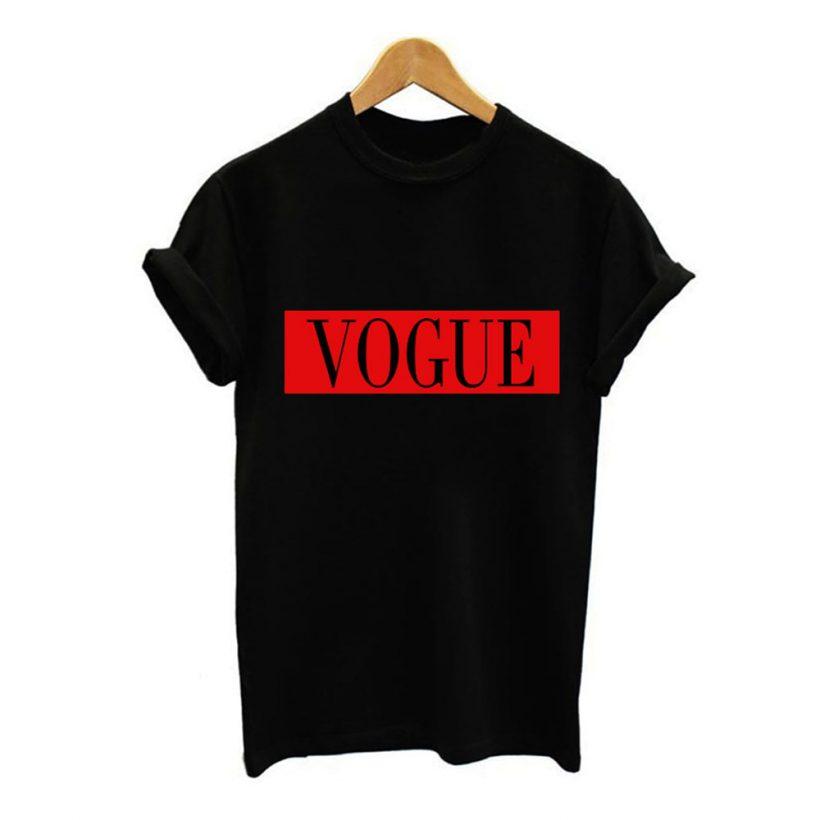 a5d4537b7ee4 Dámske tričko s nápisom VOGUE