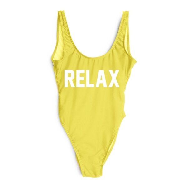zlte jednodielne plavky
