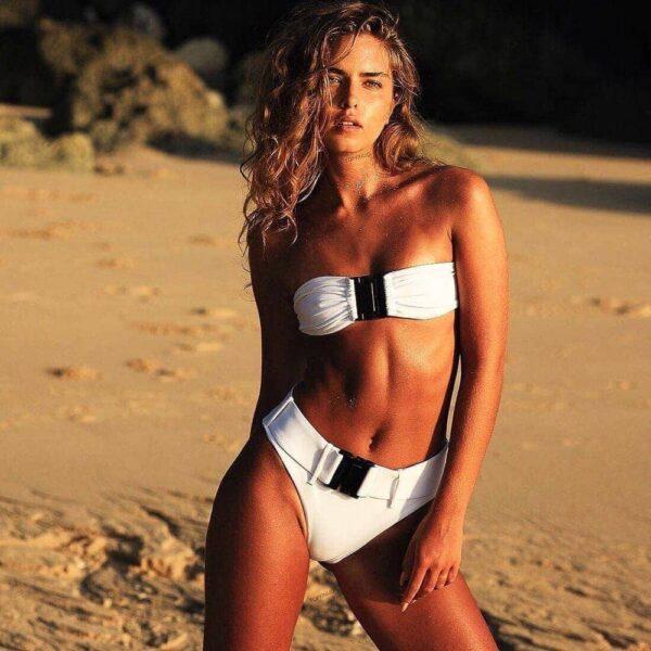 biele damske plavky