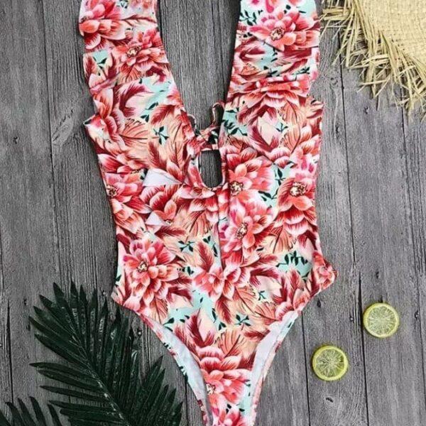 jednodielne plavky s potlacou