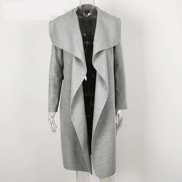 Dámsky prechodný dlhý kabát  d8d2a596e2e