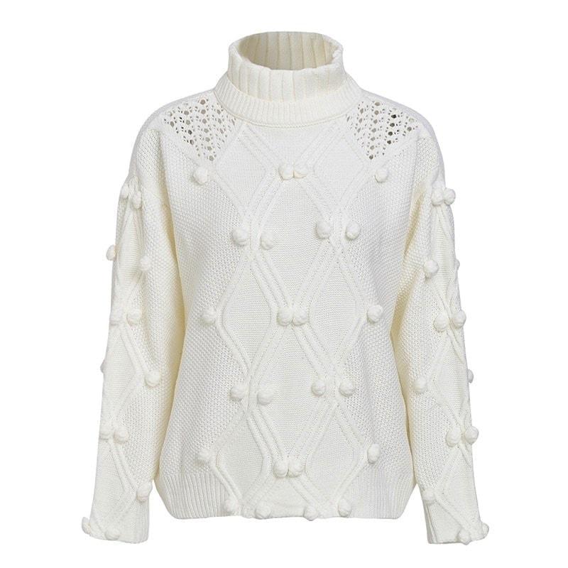 e3d7ca53d0a1 Dámsky sveter s brmbolcami