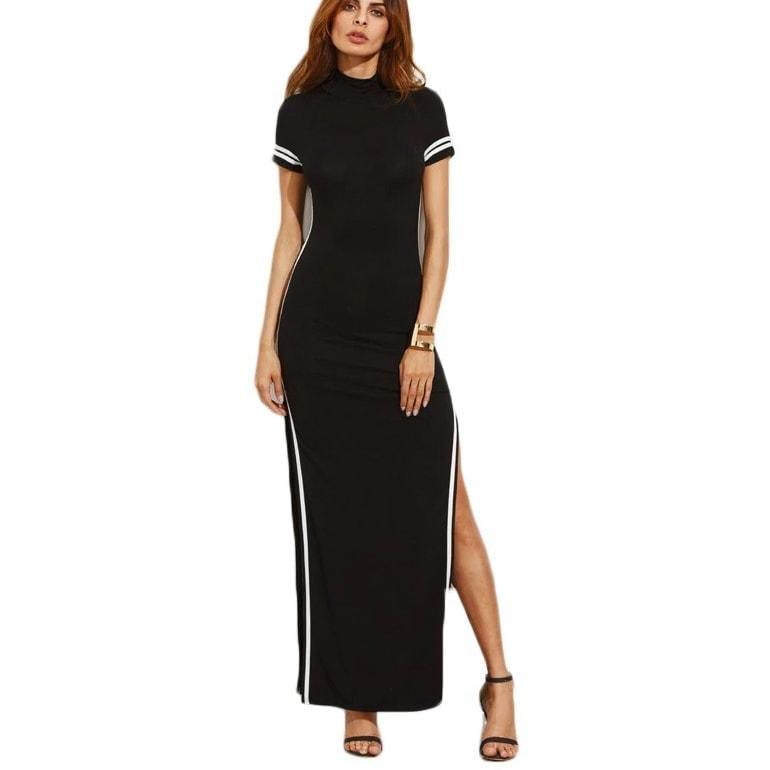 2154ca66e Čierne dlhé šaty s rozparkami | Happywoman.sk