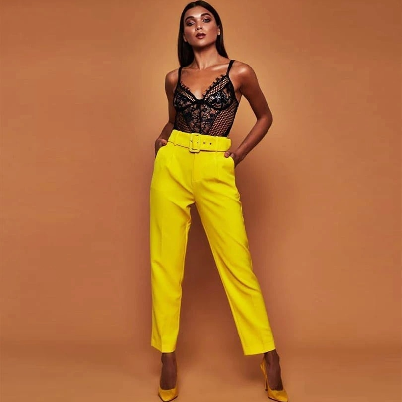 0d337ac81 Elegantné nohavice s opaskom | Happywoman.sk