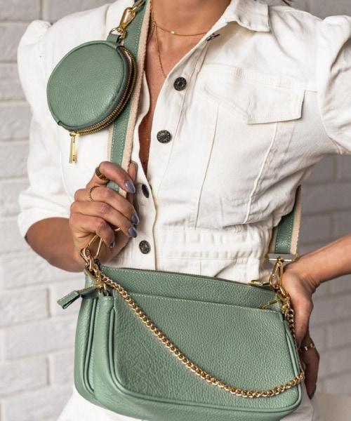 zelena damska kabelka