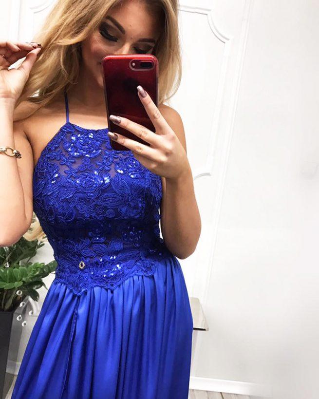 saty na svadbu - modra