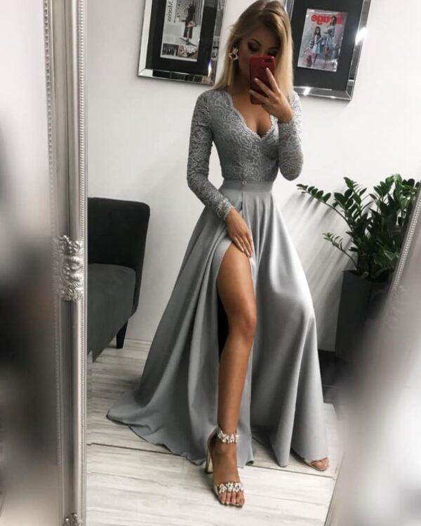 Spoločenské šaty Margaret - sivá 1