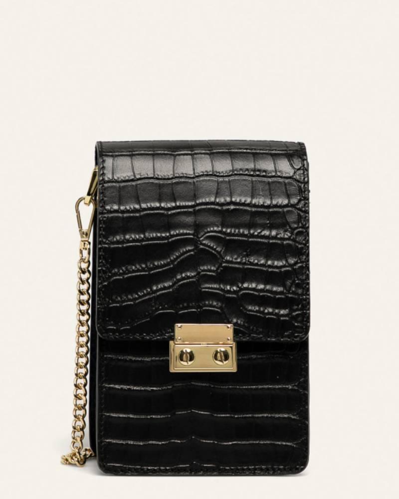 cierna kozena kabelka
