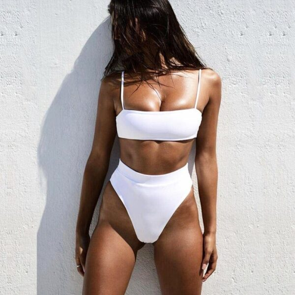 damske plavky - biela