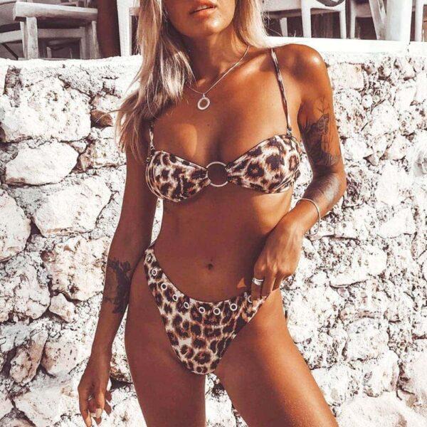 brazilske plavky - leopard