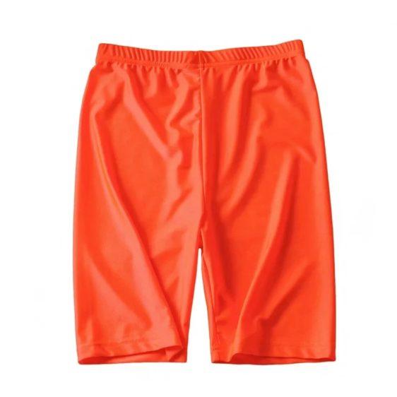 kratke neonove leginy-oranzova