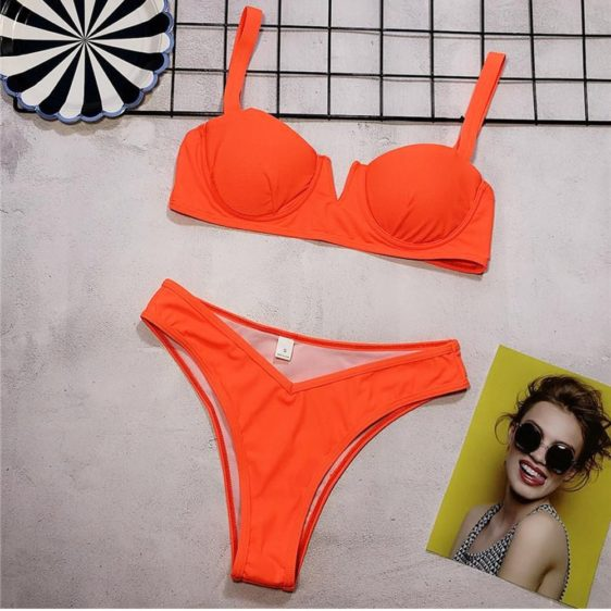oranzove damske plavky