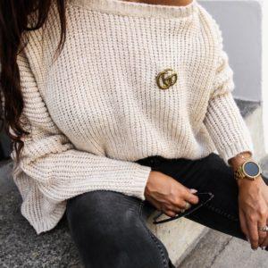 kremovy damsky oversize sveter