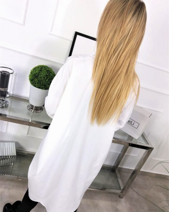 oversize biela damska kosela