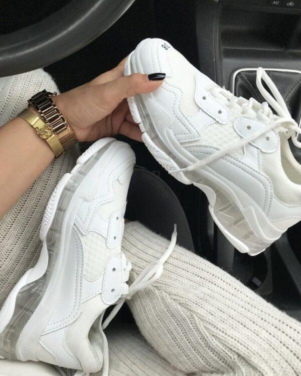 biele damske tenisky