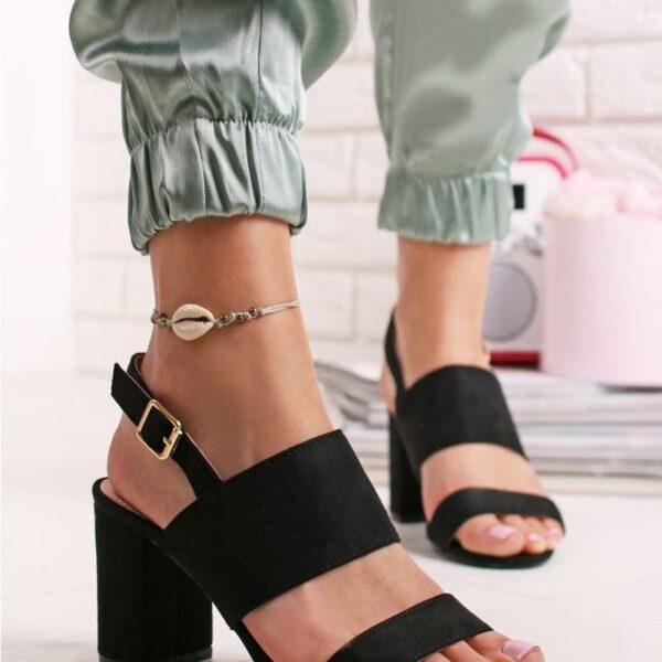 cierne vysoke sandalky