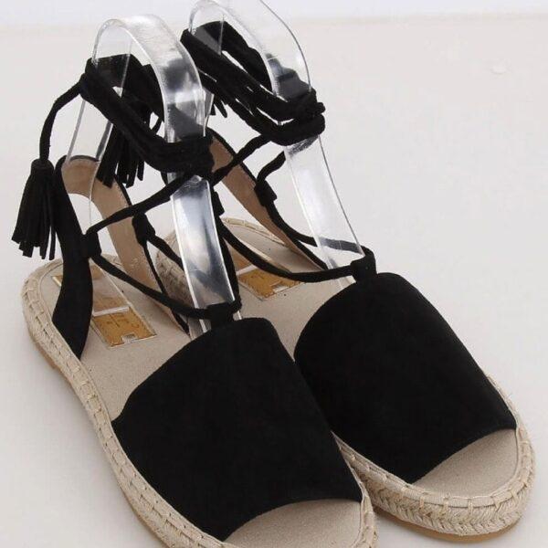 cierne sandalky