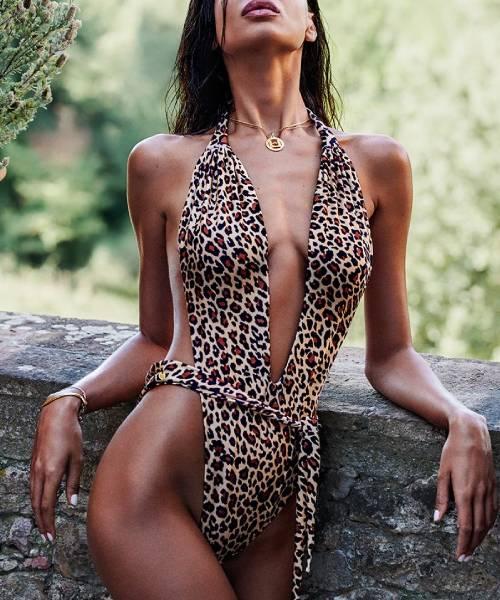 leopardie plavky