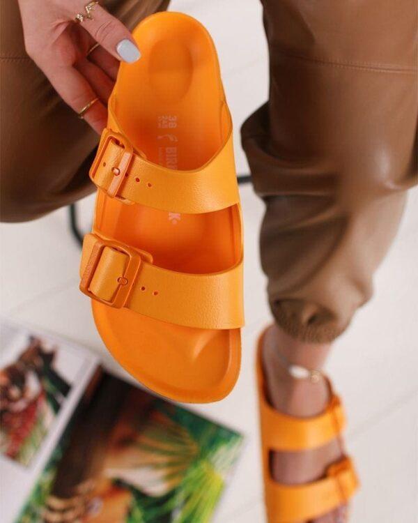 oranzove damske slapky