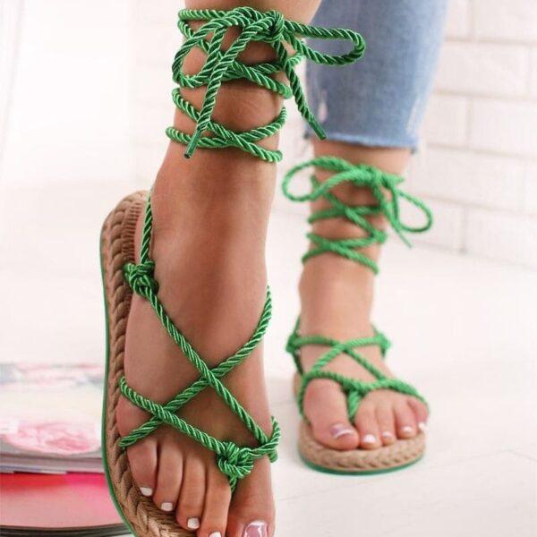 zelene nizke sandalky