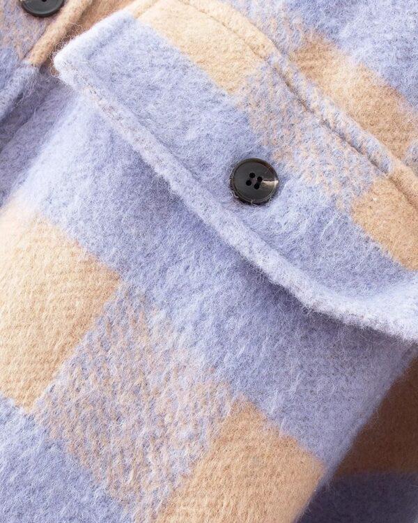 damska kockovana jesenna bunda