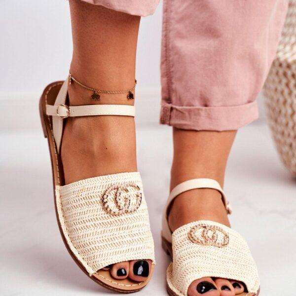bezove damske sandalky