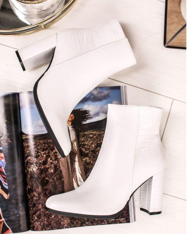 biele damske cizmy