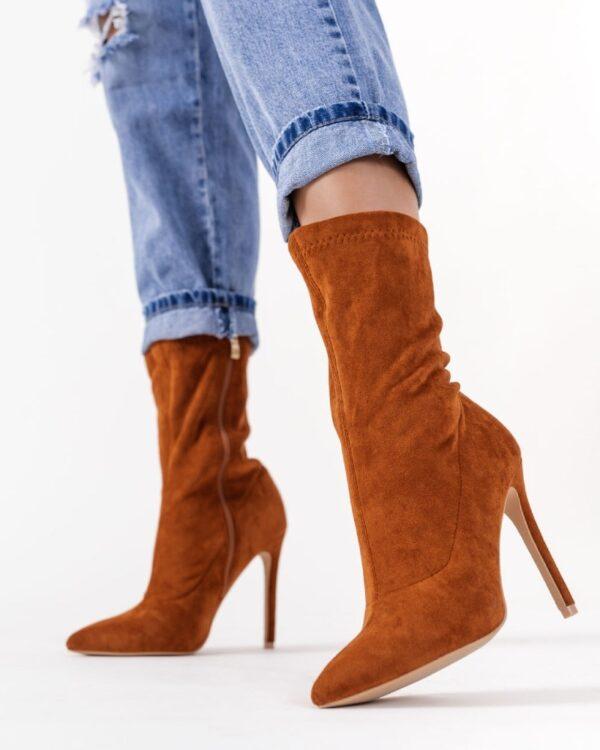 damske bordove cizmy