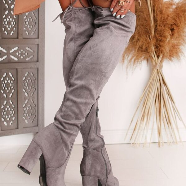 damske sive cizmy
