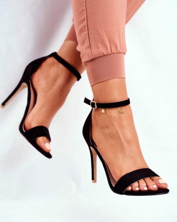 cierne vysoke sandale