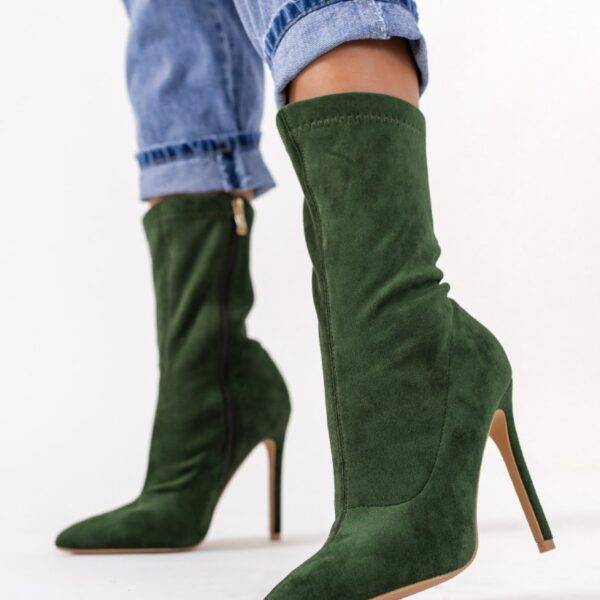 damske zelene cizmy