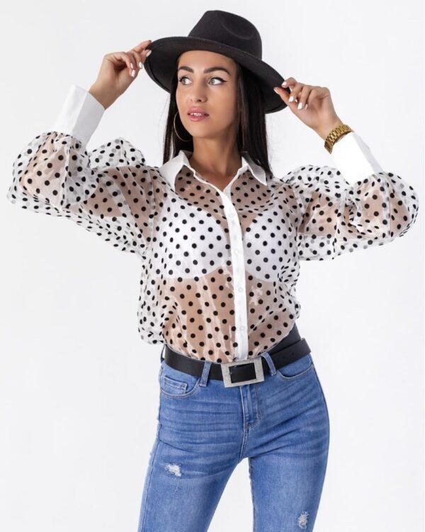 damska cipkovana bluzka