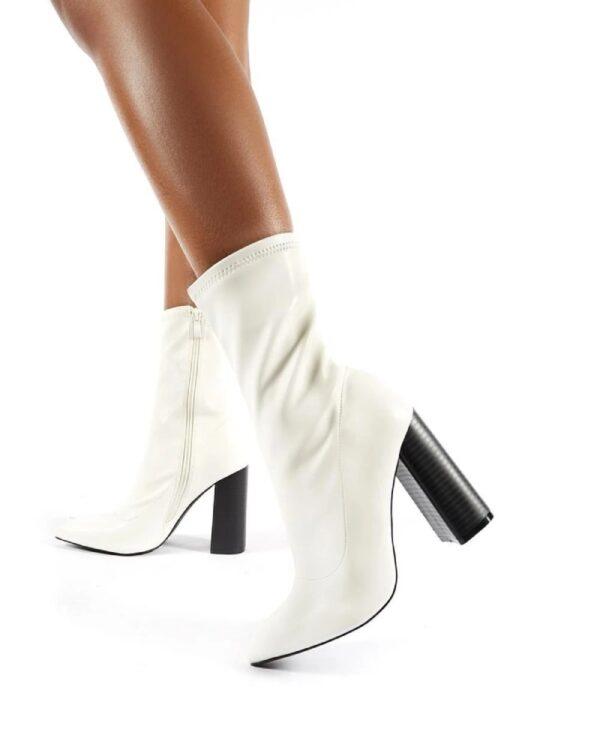 damske biele cizmy
