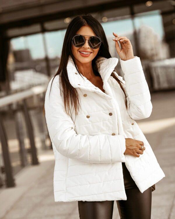 damska biela bunda