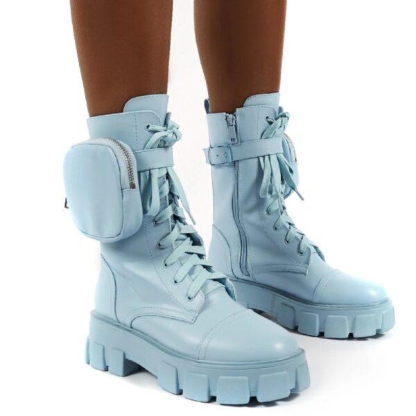 damske modre cizmy