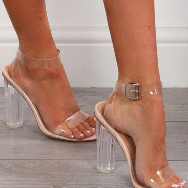 damske priesvitne sandaalky
