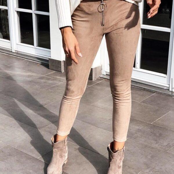 bezove dlhe nohavice