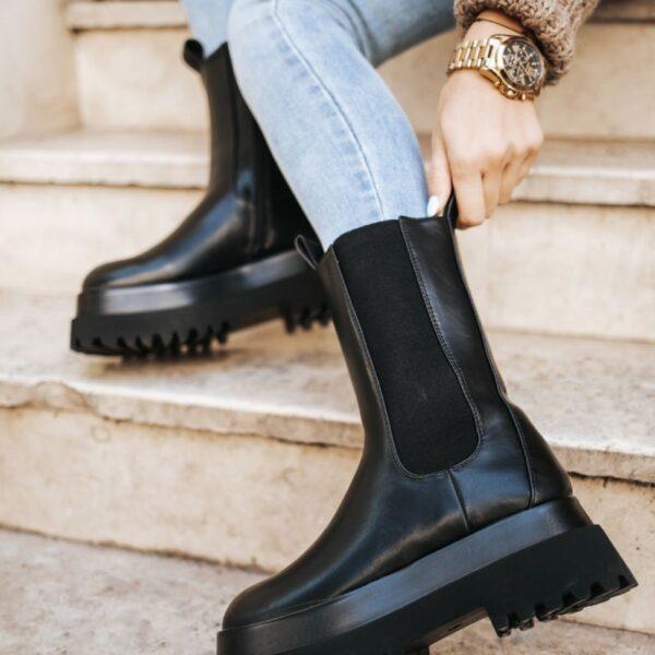 cierne damske cizmy