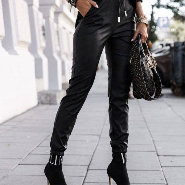 kozenkove cierne nohavice