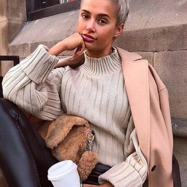 damsky bezovy sveter